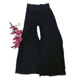 Lapis Crinkled Pallazzo Pants